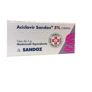 ACICLOVIR SANDOZ CREMA 3 gr 5%