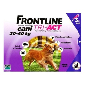 FRONTLINE TRI-ACT 3 PIPETTE 4 ml Cani 20-40 Kg