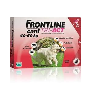 FRONTLINE TRI-ACT 3 PIPETTE 6 ml Cani 40-60 Kg