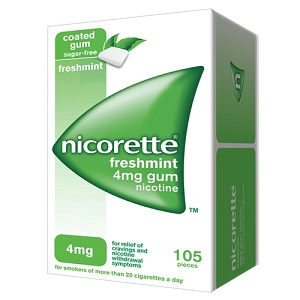 NICORETTE 105 GOMME MASTICABILI 4 mg Menta