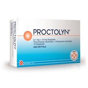 PROCTOLYN 10 SUPPOSTE 0,1 mg + 10 mg
