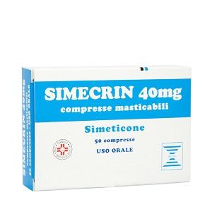 SIMECRIN 50 COMPRESSE MASTICABILI 40 mg