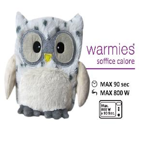 WARMIES Peluche GUFO LEOPARDO NEVE