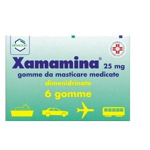 XAMAMINA 6 GOMME MASTICABILI 25 mg
