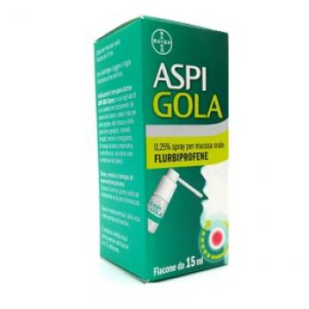 ASPI GOLA SPRAY ORALE 15 ML 0,25%